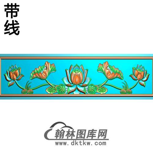 荷花横梁精雕图 (MBHL-1292)