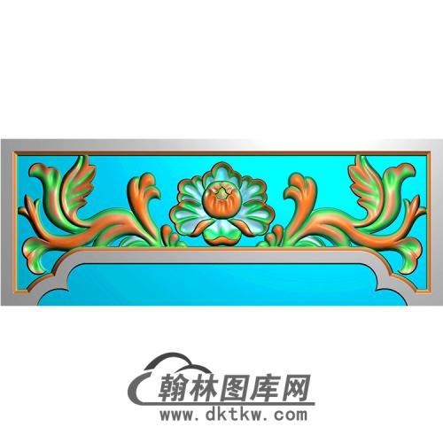 洋花横梁精雕图 (MBHL-1296)