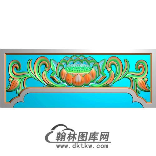 莲花横梁精雕图   (MBHL-1298)