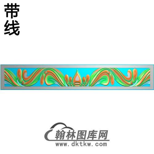 洋花横梁精雕图(MBHL-1316)