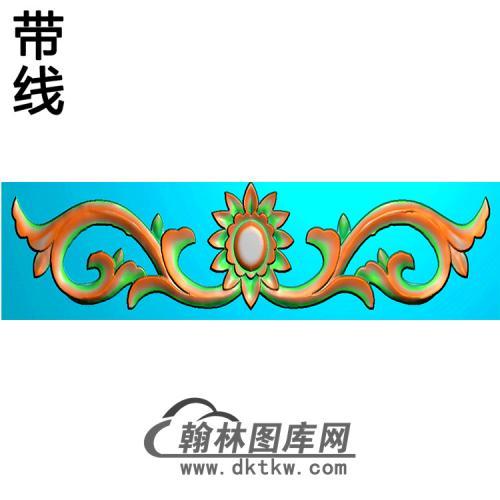 洋花横梁精雕图 (MBHL-1337)