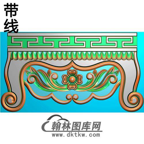 洋花横梁精雕图 (MBHL-1352)