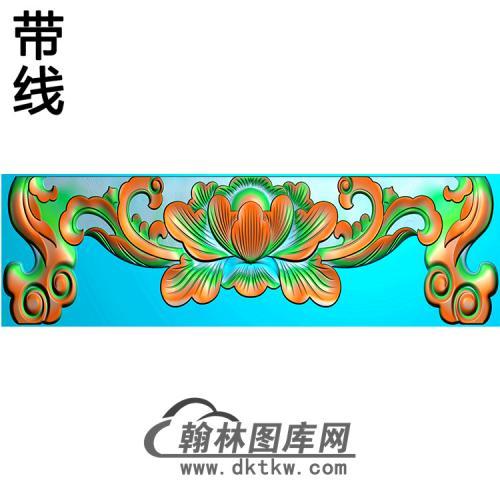 牡丹横梁精雕图 (MBHL-1353)