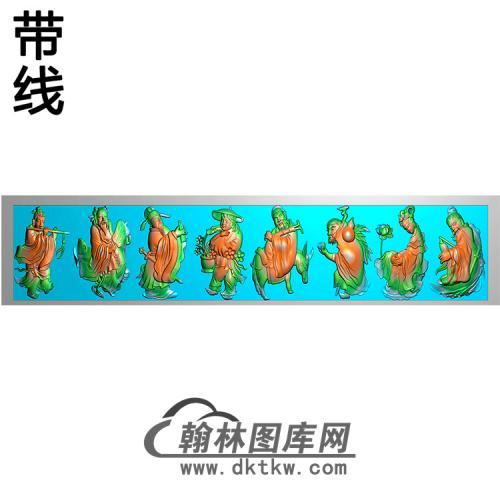 八仙横梁精雕图(MBHL-1362)