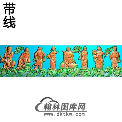 八仙横梁精雕图 (MBHL-1366)