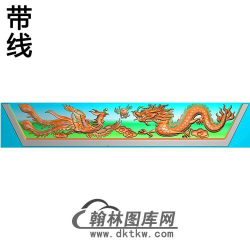 龙凤横梁精雕图  (MBHL-1372)