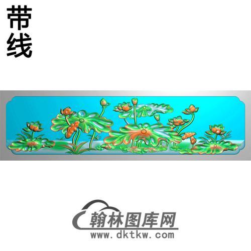 荷花横梁精雕图(MBHL-1400)