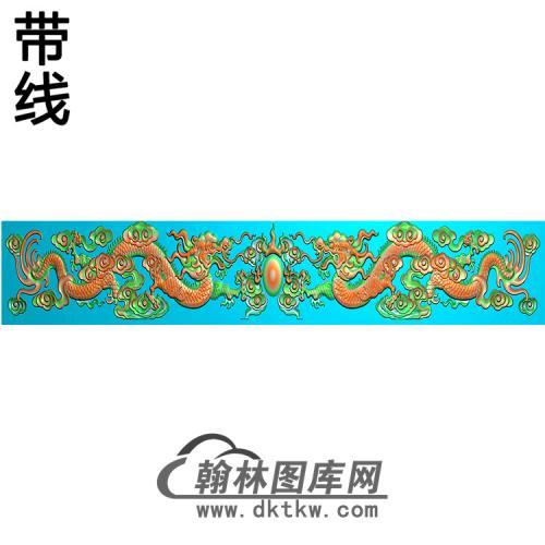 双龙横梁精雕图(MBHL-1402)