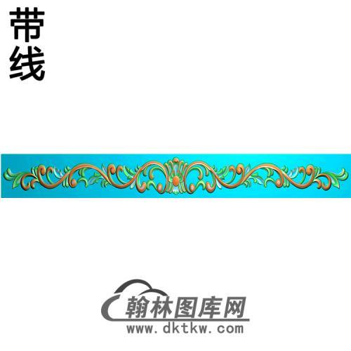 洋花横梁精雕图 (MBHL-1414)