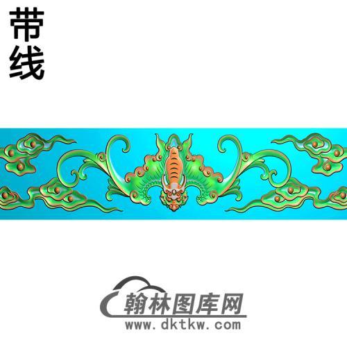 蝙蝠云横梁精雕图(MBHL-1432)