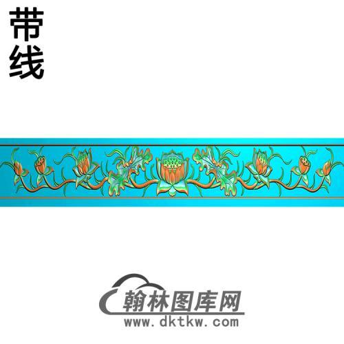 莲花横梁精雕图  (MBHL-1434)