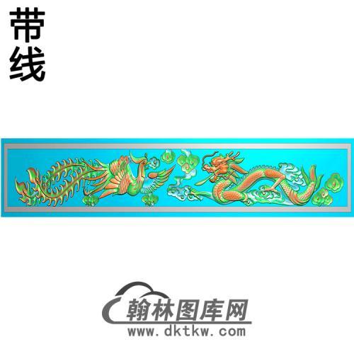 龙凤横梁精雕图   (MBHL-1435)