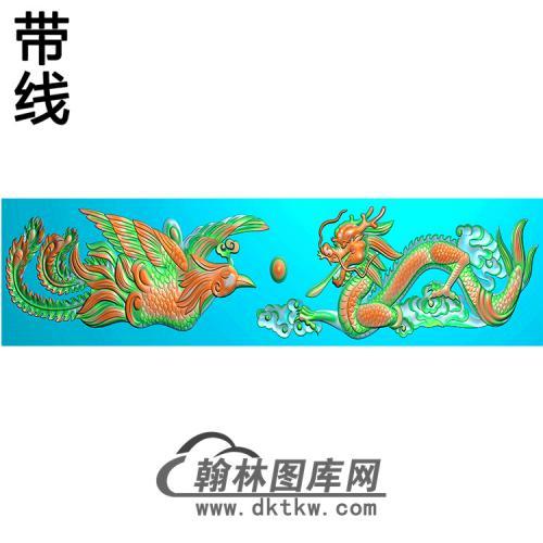 龙凤横梁精雕图(MBHL-1437)