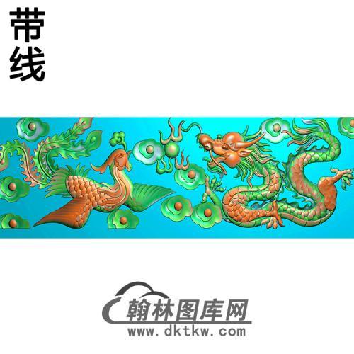 龙凤横梁精雕图(MBHL-1438)
