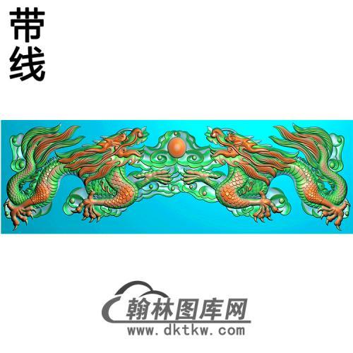 双龙横梁精雕图 (MBHL-1439)