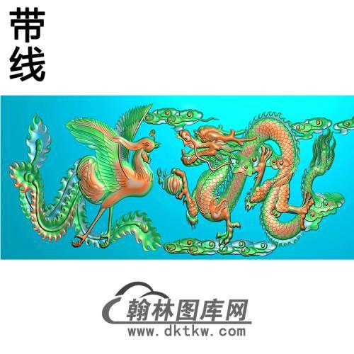 双龙横梁精雕图(MBHL-1440)