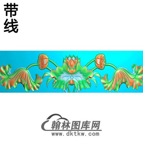 荷花横梁精雕图 (MBHL-1441)