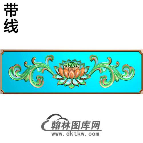 莲花横梁精雕图 (MBHL-1442)