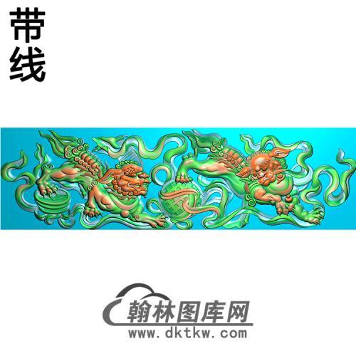 狮子横梁精雕图(MBHL-1443)