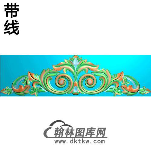 洋花横梁精雕图 (MBHL-1444)