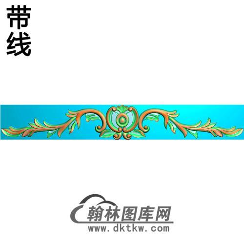洋花横梁精雕图(MBHL-1445)