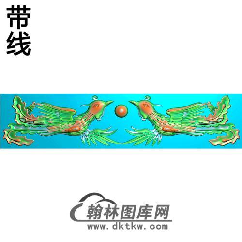 双凤横梁精雕图(MBHL-1446)