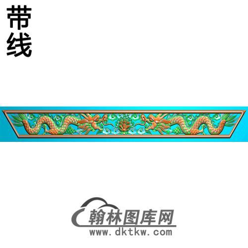 双龙横梁精雕图  (MBHL-1449)