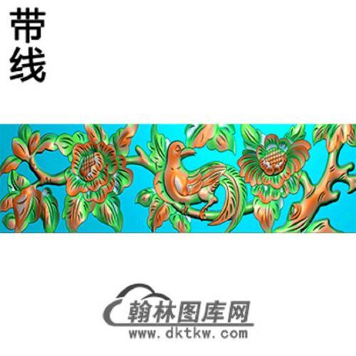 花鸟横梁精雕图  (MBHL-1327)