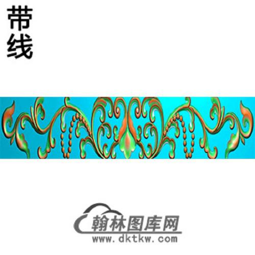 洋花横梁精雕图 (MBHL-1330)