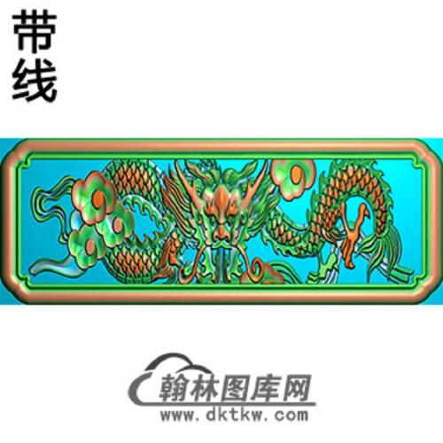 龙横梁精雕图(MBHL-1331)