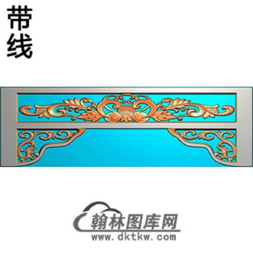 洋花横梁精雕图 (MBHL-1334)