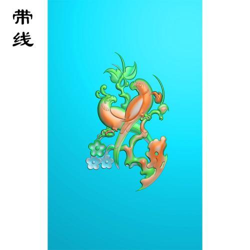 梅花鸟精雕图(MHN-002)