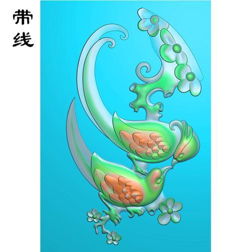 梅花鸟精雕图(MHN-005)