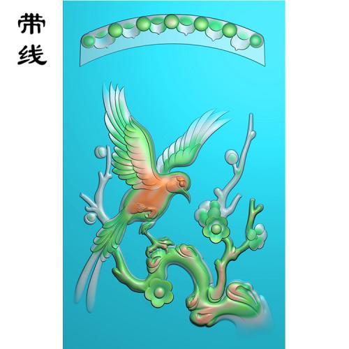 梅花鸟精雕图(MHN-010)