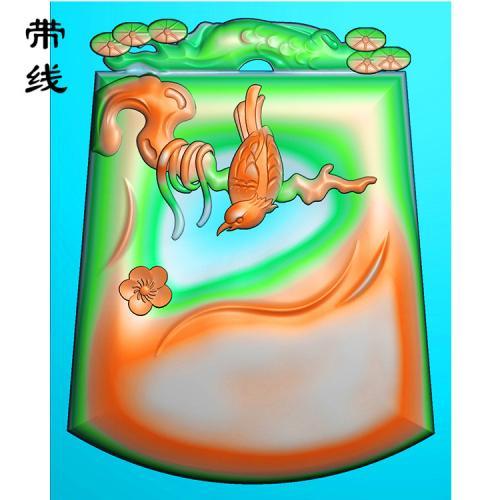 梅花鸟精雕图(MHN-012)