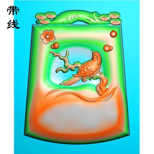 梅花鸟精雕图(MHN-016)