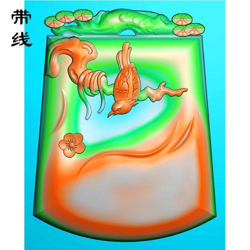 梅花鸟精雕图(MHN-019)