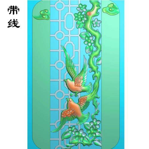 梅花鸟精雕图(MHN-021)