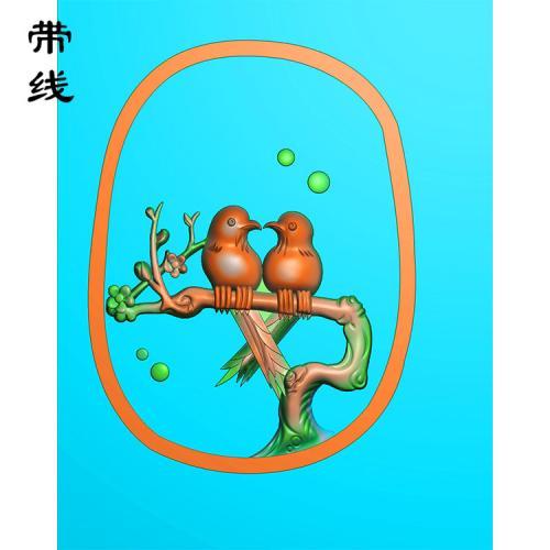 梅花鸟精雕图(MHN-023)