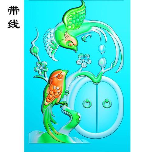 梅花鸟精雕图(MHN-025)