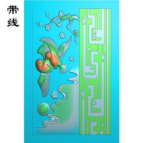 梅花鸟精雕图(MHN-029)