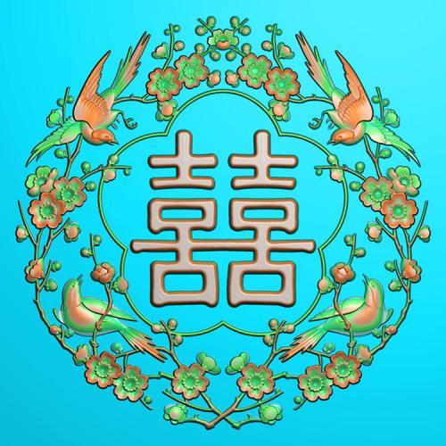 梅花鸟精雕图(MHN-035)