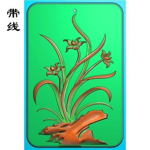 兰花精雕图(GGL-002)