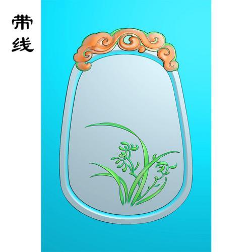 兰花精雕图(GGL-007)