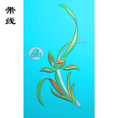 兰花精雕图(GGL-001)