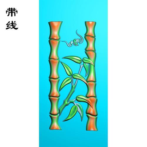 蝙蝠竹子精雕图(ZN-033)