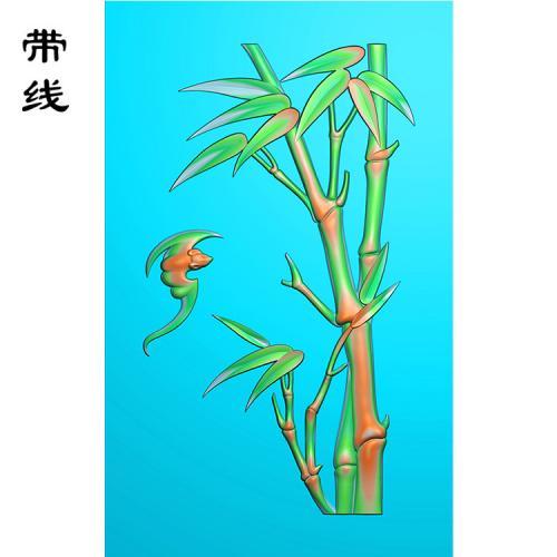 蝙蝠竹子精雕图(ZN-001)