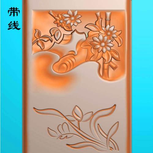 菊花挂件精雕图(JH-002)