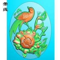 牡丹花鸟精雕图(MDN-015)
