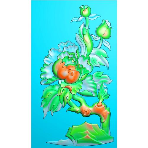 牡丹精雕图(MDN-016)